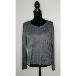 Project Social T Shirt Long Sleeves Size M Gray